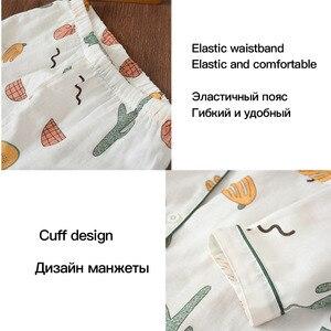 Image 4 - ผู้หญิงชุดนอนผ้าฝ้ายชุดนอนชุดนอนใหม่ชุดผู้หญิงยาวแขนยาวชุดนอนผู้หญิงเส้นด้ายฝ้าย pijama pj ชุดน่ารัก pijama mujer