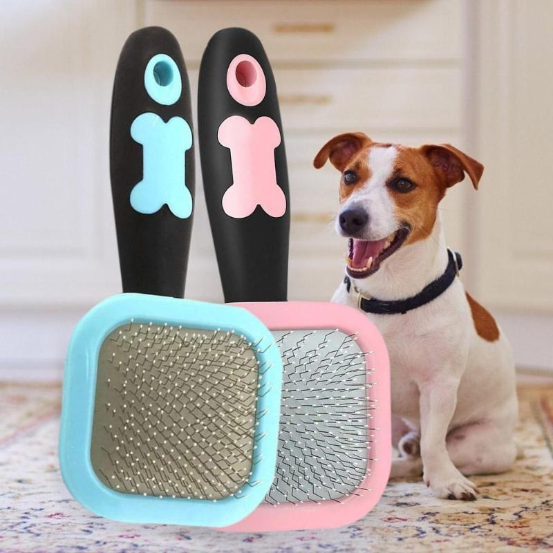 Pet Dog Supplies Hot Sale Stainless Steel Pet Massage Grooming Brush 360 Degree Rotatable Hair Removal Comb for Dogs Pet Combs