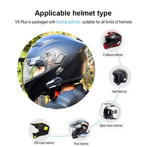 Image 2 - Fodsports V6 Plus Motorcycle Helmet Intercom Wireless Bluetooth Headset LED Screen FM Radio Full Duplex Intercomunicador