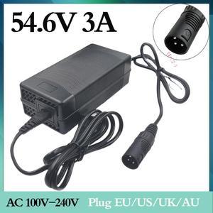 Image 1 - 1PCสนับสนุนขายส่ง 54.6V 3A 54.6V 3Aไฟฟ้าจักรยานแบตเตอรี่ลิเธียม 48Vแพ็คXLR 54.6V3A