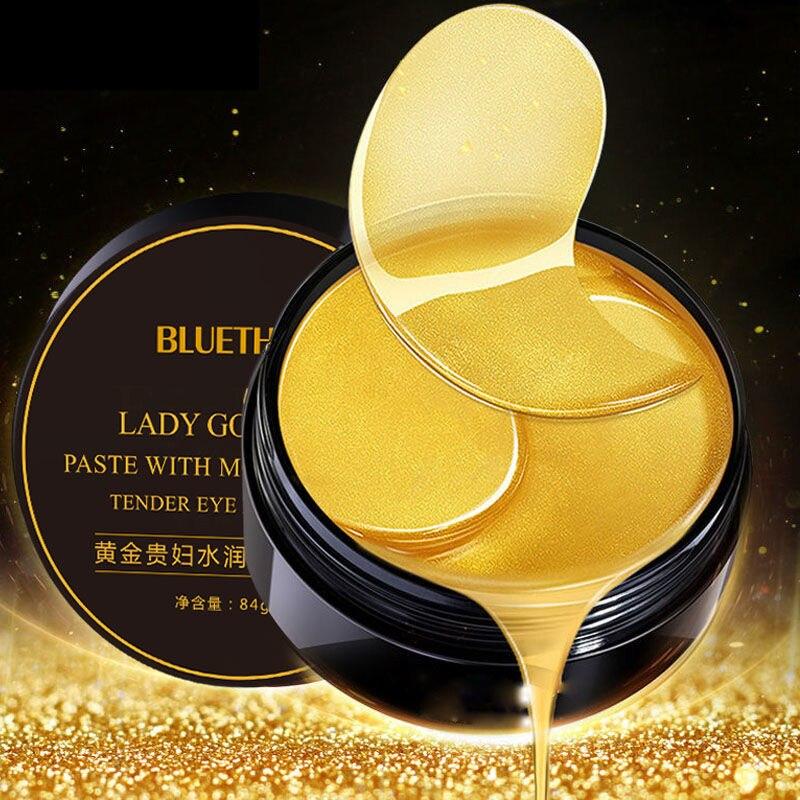 60pcs/box Collagen Moisturizing Eye Golden Mask Green Seaweed  Anti-aging Eye Skin Remove Dark Circles Face Care Mask TSLM1-2