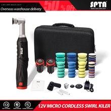 SPTA Cordless Mini do polerowania samochodu, 12V Micro Cordless Scratches Killer do polerowania samochodu RO/DA Mini do polerowania samochodu do polerowania, szlifowania