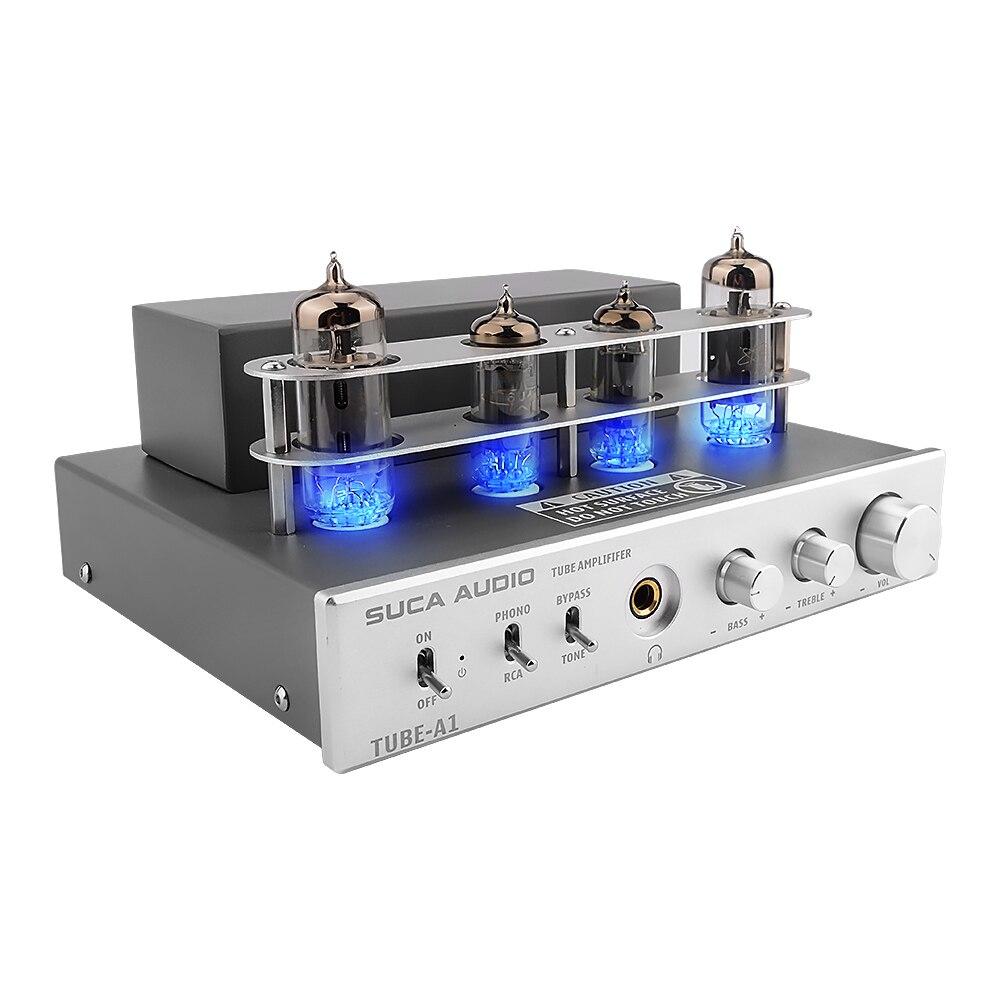 Pré Amplificador Tube casque ampli stéréo pré amplificateur carte Audio 3W x 2 MM Phono préampli Tube à vide 6P1 6J4 amplificateur pour écouteurs