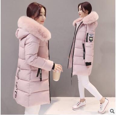 Women Winter Coats Long Cotton Casual Fur Hooded Jackets Women Thick Warm Winter   Parkas   Female Overcoat Coat 2019
