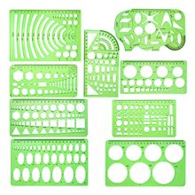 9 шт геометрические шаблоны для рисования мерные линейки пластиковые