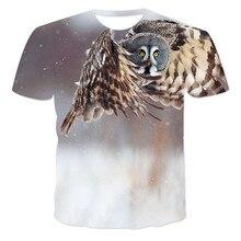 Camiseta estampada en 3D para hombre, camiseta informal con estampado de animales, camiseta de manga corta con cuello redondo de