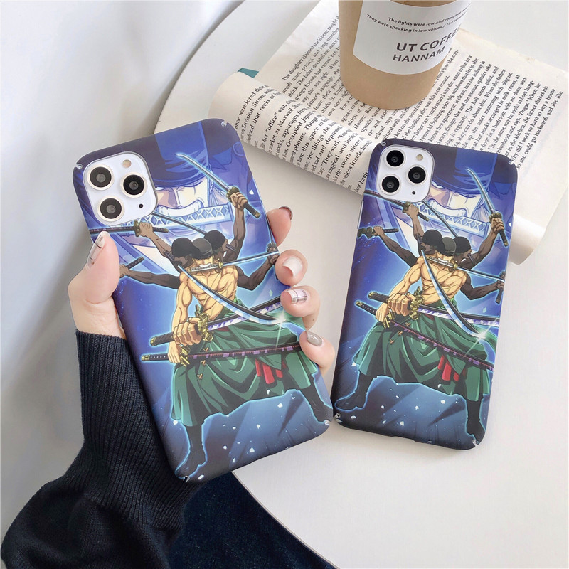 Japan Anime OP Zoro Case for Coque iPhone 11 pro 6 6s 7 8 Plus X Xs MAX XR phone cases Straw Hat Pirates Plastic back cover image