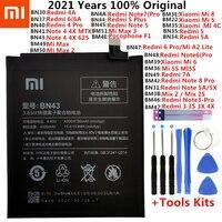 Batteria originale per Xiaomi Mi Redmi Note Mix Max 2 3 3S 3X 4 4X 4A 4C 5 5A 5s 5X M5 6 6A Mi6X 7 8 9 MI9 Pro Plus Lite batterie