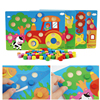 Renk biliş kurulu Montessori eğitici oyuncaklar çocuklar için ahşap oyuncak yapboz çocuklar erken öğrenme renk maç oyunu