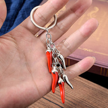 Newest 2019 Vicney Red Fashion Trendy Chilli Key Chain Women Key Ring Portable Jewelry Chili Key Pendant Bag Charm Cute Keychain Souvenir(China)