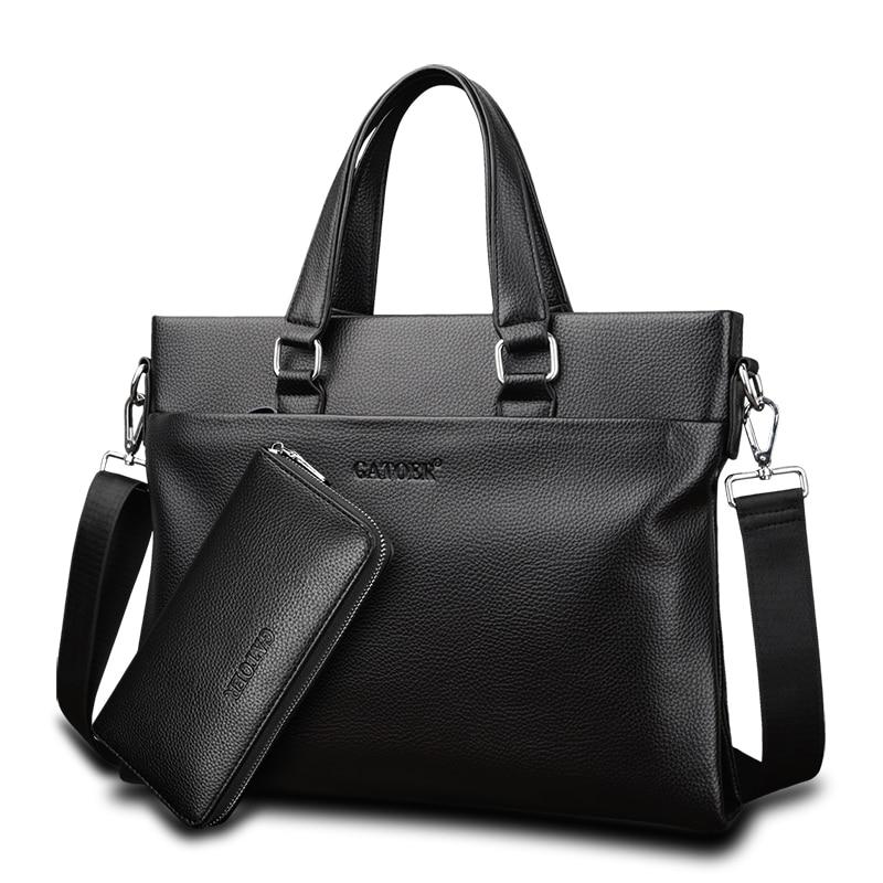 Famous Brand Business Men Briefcase Women Pu Leather Laptop Bag Man Shoulder Bag Bolsa Maleta Messenger Computer Bags