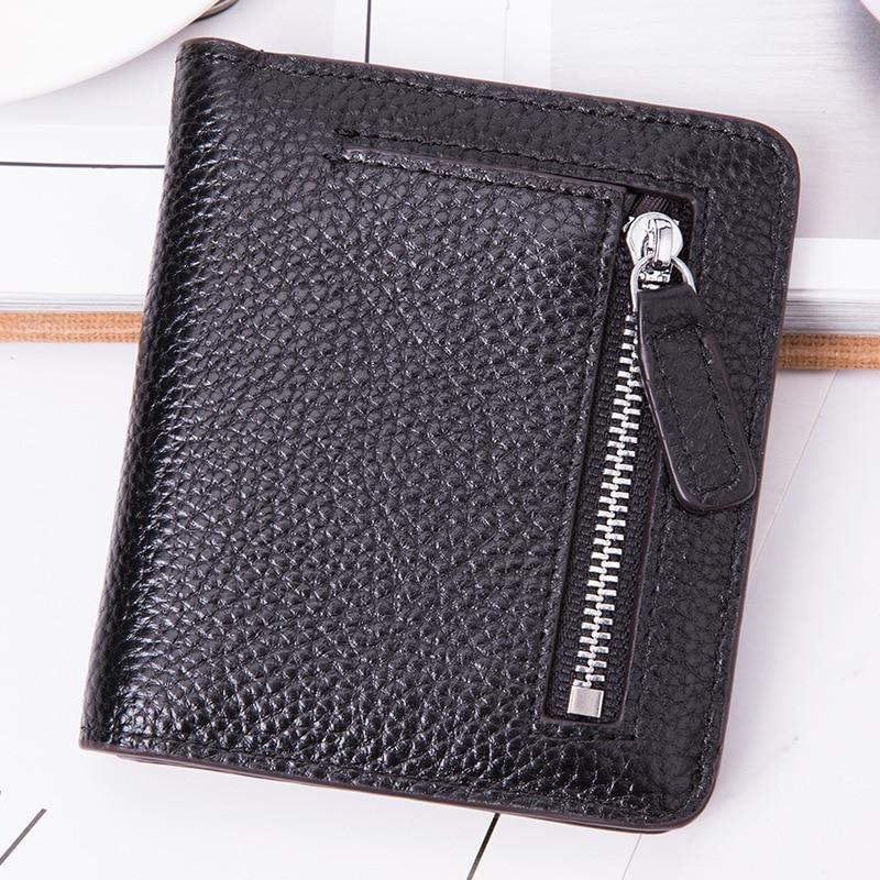 Women's Real Leather Zipper Wallet Card Bit More Snap Closure Frid Wallet Antimagnetic Cowhide Women's Purse Kb-13