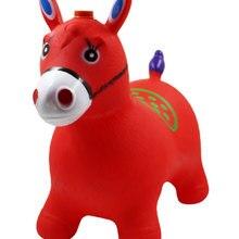 Детская игрушка для прыжков chong qi ma Vaulting Horse детская шпон лошадь толстый прыгающий пони Верховая езда лошадь для девочек и мальчиков