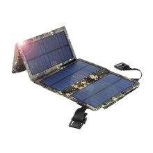 цена на Mini Folding 4 Solar Panel 10W Sunpower Solar Celles Universal Phones Power Bank Charger Outdoor External Power Source