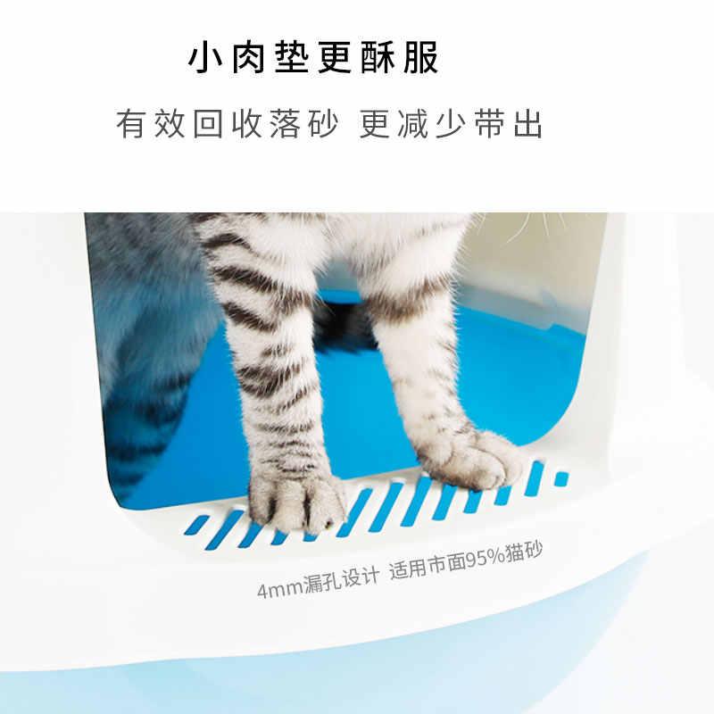Besar Tertutup Kotoran Kucing Kotak Pelatihan Berwarna Merah Muda Shorthair Kucing Sekop Caixa De Gato Areia Rumah Produk Hewan Peliharaan Baru MM60MSP