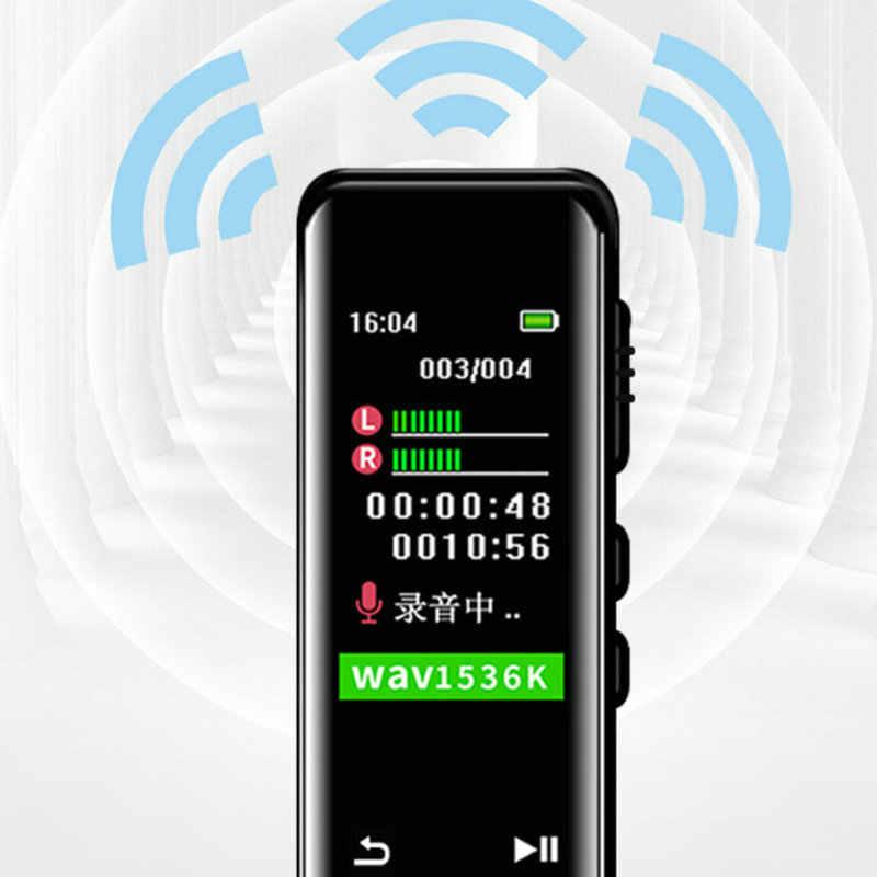Digital Suara Diaktifkan Perekam Mini Dictaphone Layar Sentuh Suara Rekaman Audio Perangkat MP3 Pemain Profesional Rekaman Suara