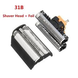 Barbeador Cabeça + Foil para BRAUN Shaver Cabeça Folha 31b 5000/6000 Série 360 380 5312 5485 5610 6515 6518 6520 6525 6550