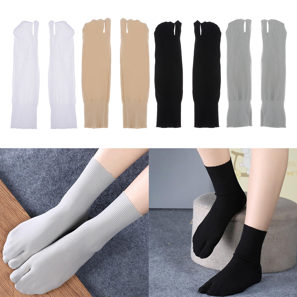 1 Pair Unisex Toe Socks Japanese Kimono Flop Sandal Split Toe Tabi Ninja Cotton Socks 26.5 Cm Summer Spring Toe Socks