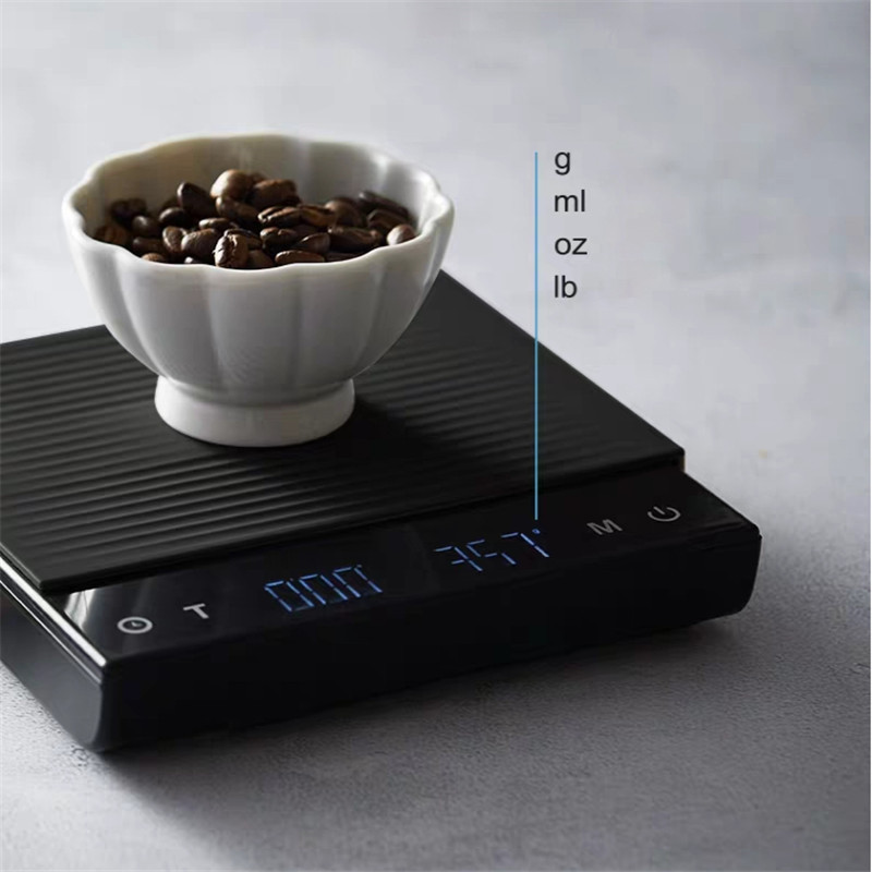 Coffee Scale Smart Digital Scale For Kitchen Bar Counter 2020 New Pour Coffee Electronic Drip Coffee Scale With Timer 3kg/0.1G