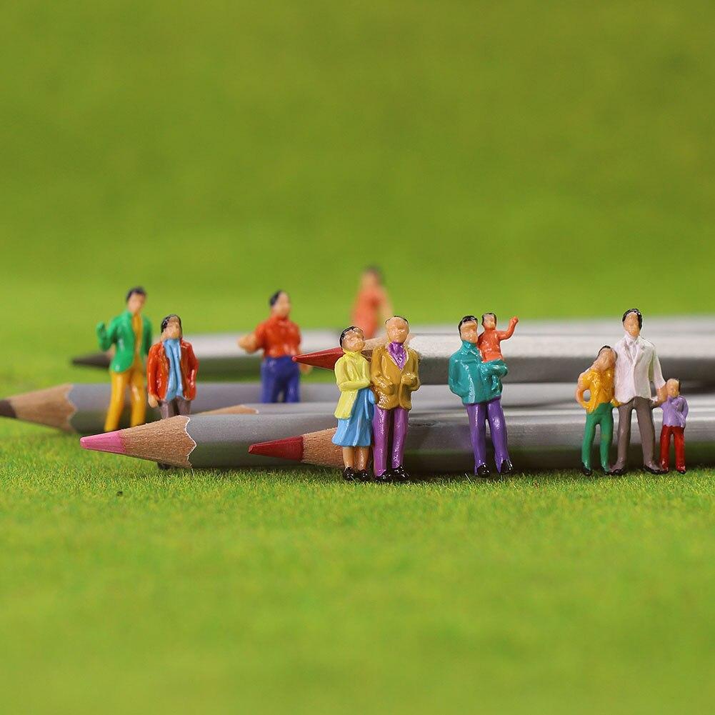 100pcs Escala HO Figuras Pintadas Pessoas 187 Modelo do Trem de Passageiros de Pé Assorted Pose P100W