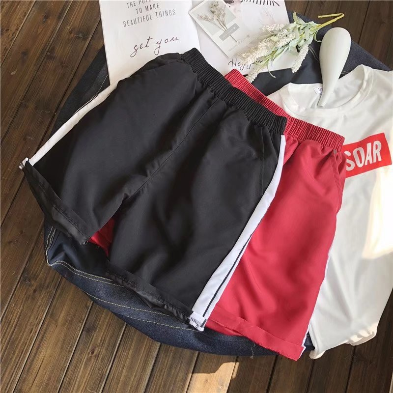 Summer Thin Section Casual Men Sports 5 Pants Couples Quick-Dry Shorts Beach Shorts Students Elastic Shorts Fashion