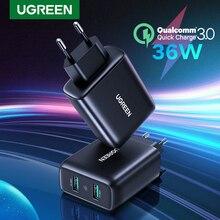 Ugreen USB зарядное устройство Quick Charge 3,0 36W быстрое зарядное устройство адаптер QC3.0 мобильный телефон зарядные устройства для iPhone Samsung Xiaomi Redmi зарядное устройство