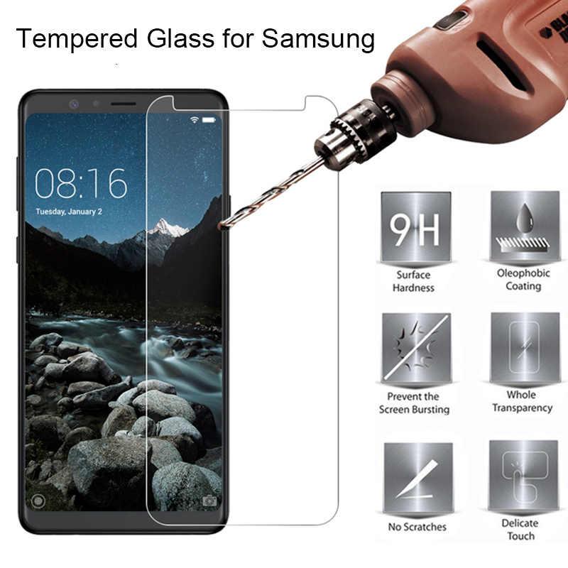 الزجاج المقسى لسامسونج J2 برو J2 الأساسية واقية الزجاج لسامسونج غالاكسي J4 زائد J6 Plus J8 J7 حامي الشاشة