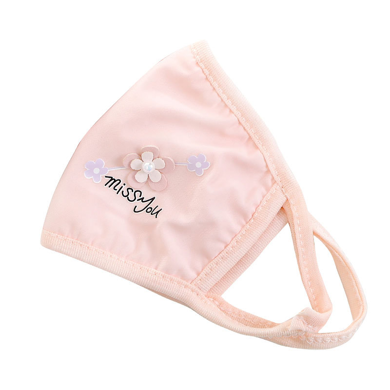 Women Mouth Mask Breathable Cotton Reusable Face Shield Wind Proof Flower Mouth Cover Mask Washable Non-disposable Mouth Masks