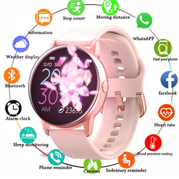 цена на Women Smart Watch IP68 Waterproof Bluetooth Smartwatch For Apple IPhone LG Heart Rate Monitor Fitness Tracker Smart Wristwatch