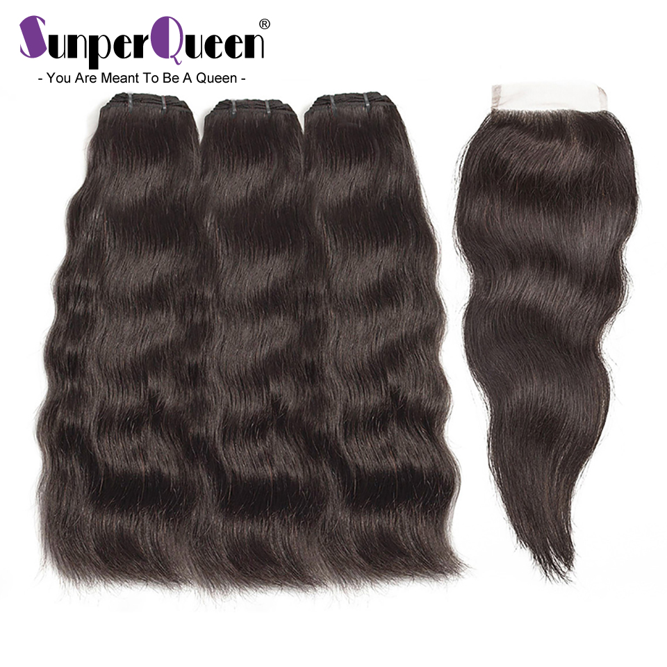 Raw Indian Virgin Hair Bundles With Closure Body Wave Hair Weave Bundles With Middle Part Closure Free Shipping