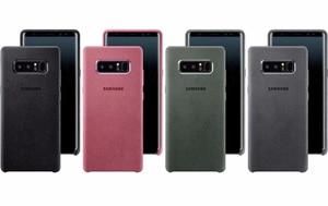 Image 2 - SAMSUNG оригинальный прочный армированный чехол для телефона официальный Alcantara чехол для телефона Samsung Galaxy Note 8 N9500 Note8 SM N950F мобильный телефон чехол