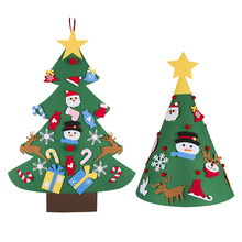 Christmas Tree New Year Gifts Kids Toys Artificial DIY Felt Wall Hanging Ornaments Decorations for Home