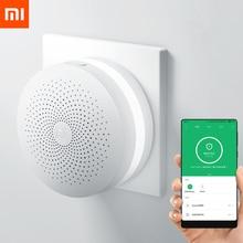 Original Xiaomi Mijia Smart Home multifunción Gateway 2 sistema de alarma inteligente en línea Radio luz nocturna campana Samrt Hub