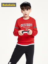 Balabala Children clothing set boy autumn 2019 new childrens suits children clothes printed hoodies + pants fashion