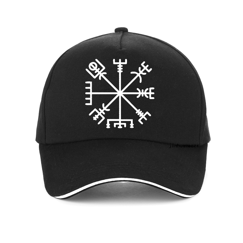 Fashion Brand Vegvisir Futhark Runes Navigator Vegvisir Viking Compass Baseball Cap Men Women Adjustable Hip-Hop Snapback Hats