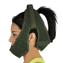 Green Canvas Cervical Traction Belt Sling Tractor Neck Stretching Traction Belt Neck Care Tool Home Hospital Medical Equipment