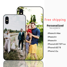 Custom Personalized Phone case Make your Photo images Black Sotf TPU Cover Case for iPhone 11 Pro Max 6 7 8plus 5S X XS XR XSMax
