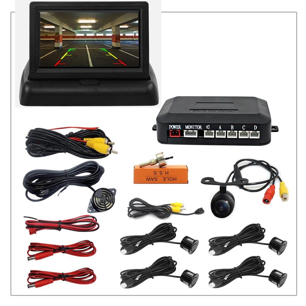Car Video Parking Sensor Reverse Radar Detector System 22mm Sensors Can Connect Car DVD Monitor Rear Camer