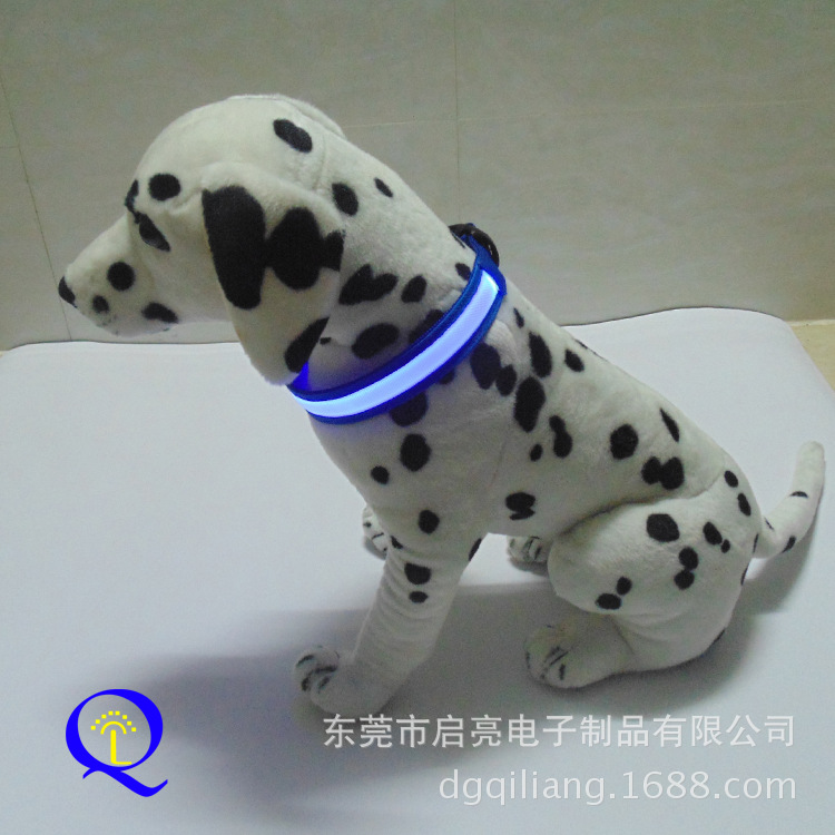 LED Luminous Pet Collar 2.5 Cm Wide Black-Really Nylon Material Dog Collar Multi-color Selectable