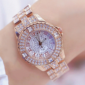 Image 5 - Women Watches Diamond Gold Watch Ladies Wrist Watches Luxury Brand Rhinestone Womens Bracelet Watches Female Relogio Feminino