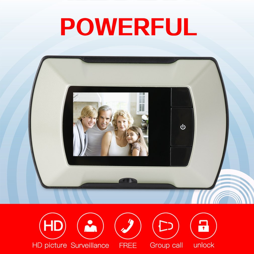 High Resolution 2.4 inch LCD Visual Monitor Door Peephole Peep Hole wired Viewer Indoor Monitor Outdoor Video Camera DIY