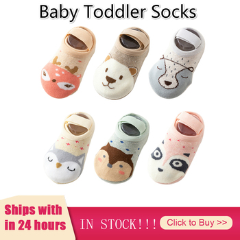 Baby Socks Cotton Toddler Floor Cute Cartoon Infant Anti-slip Socks Baby Girl Boy Soft Clothes Winter Newborn Calcetines image