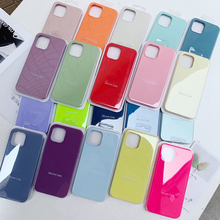 Silicone Case Full-Cover-Box Official iPhone 12 Original for 11 7/8-plus/Xr-x-xs/Max