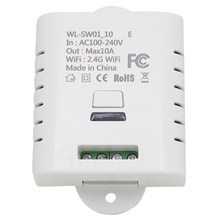 10A Wifi Switch Remote Wireless Switch Light Ewelink App Alexa Support for Google Smart Home Automation Ifttt(China)