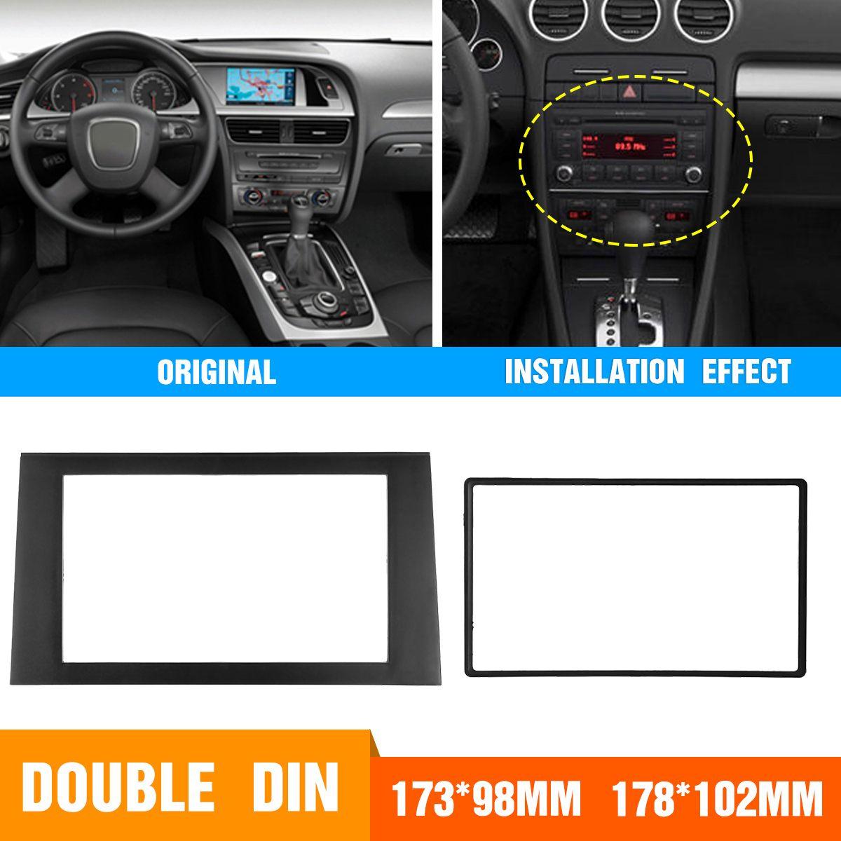 2DIN Car Stereo Radio Fascia Panel Plate Frame Adaptor CD Trim Dash Mount Kit For Audi A4 B7 2002-2008 /2002-2006 A4 B6/SEA