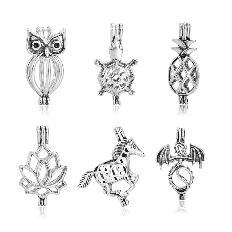 Купить 6 шт/компл античное серебряное украшение в виде коляски дракона