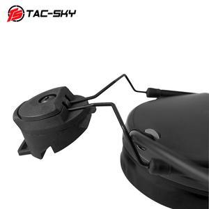 Image 5 - TAC SKY COMTAC III Helmet fast rail bracket version Silicone earmuff version Noise reduction pickup headset  BK