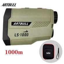Artbull laser rangefinder 1000m golf range finder com inclinação bandeira-bloqueio inclinação pino laser medidor de distância para a caça