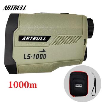 ARTBULL dalmierz laserowy 1000M 650M dalmierz golfowy ze stokiem Flag-Lock Slope pin dalmierz laserowy do polowania tanie i dobre opinie CN (pochodzenie) YN-1000 +-0 5m Zasilane baterią