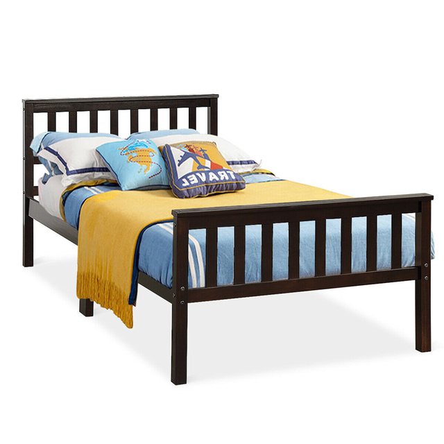 Twin Size Pine Wood Bed Frame  3